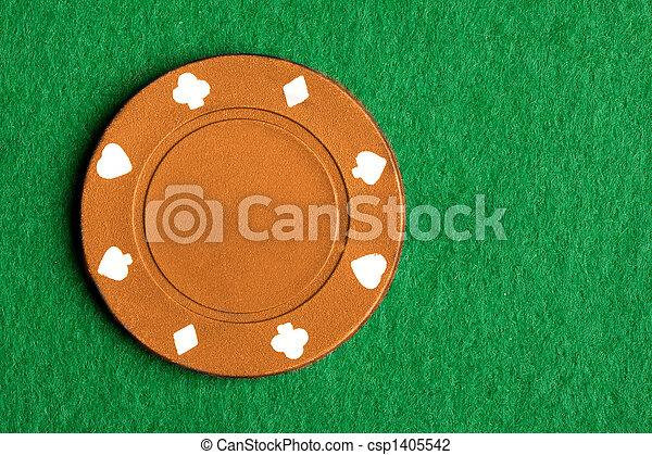 Orange Poker Chip - csp1405542