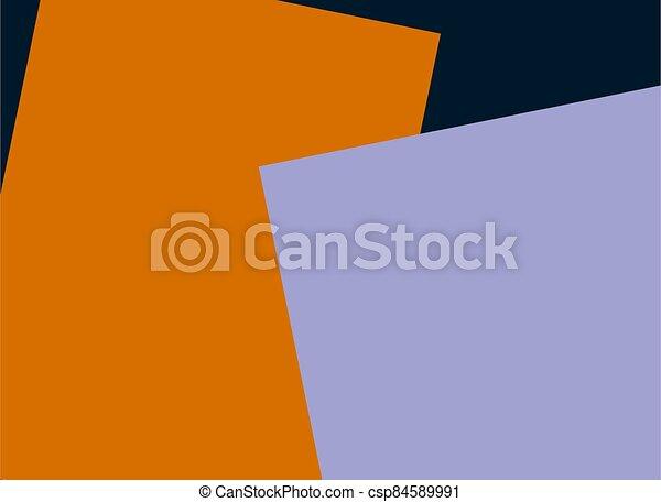 Orange purple paper empty space design template - csp84589991
