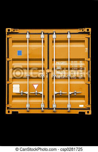 orange, récipient - csp0281725