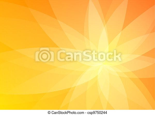 orange, résumé, papier peint, fond - csp9750244
