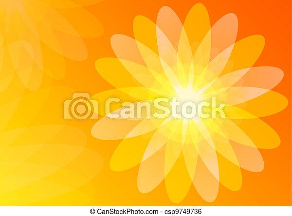 orange, résumé, papier peint, fond - csp9749736