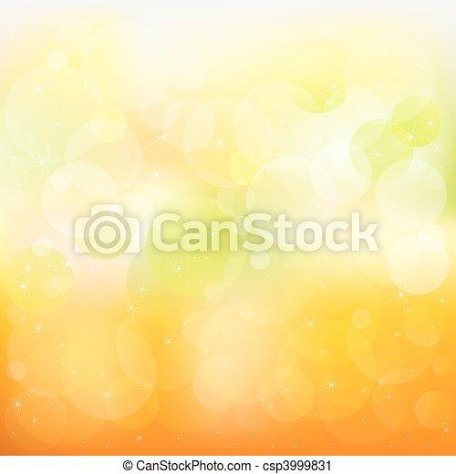orange, résumé, vecteur, fond, jaune - csp3999831