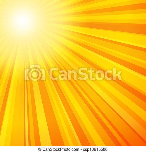 Orange, rayons soleil, couleurs, jaune. Orange couleur,... vecteur ...