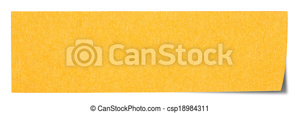 Orange rectangular sticky note - csp18984311