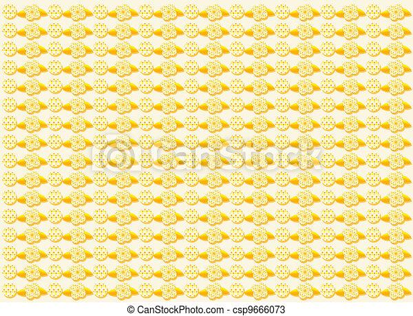 Orange retro background - csp9666073