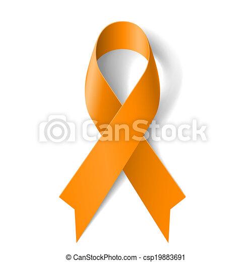 Orange ribbon - csp19883691