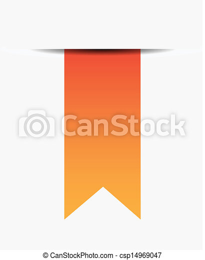 Orange ribbon on white - csp14969047