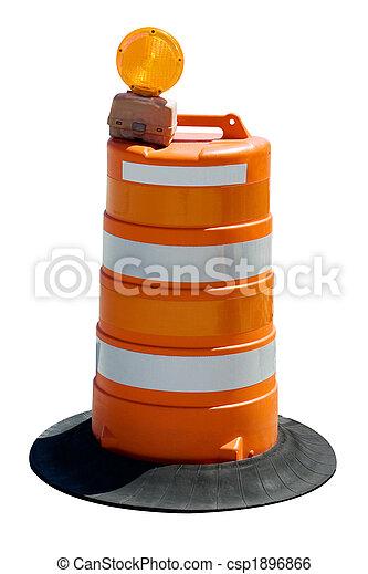 orange road barrel - csp1896866