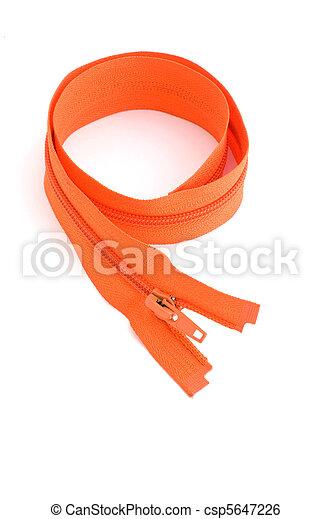 Oranger Reißverschluss zu - csp5647226