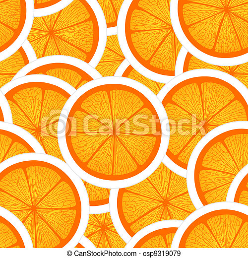 orange, seamless, fond - csp9319079