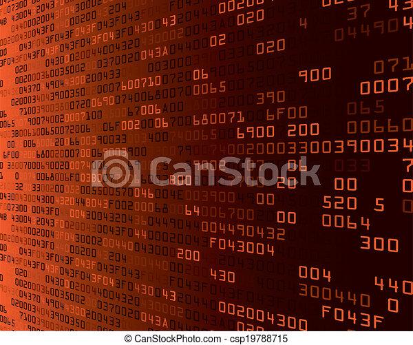 orange security background with HEX-code - csp19788715