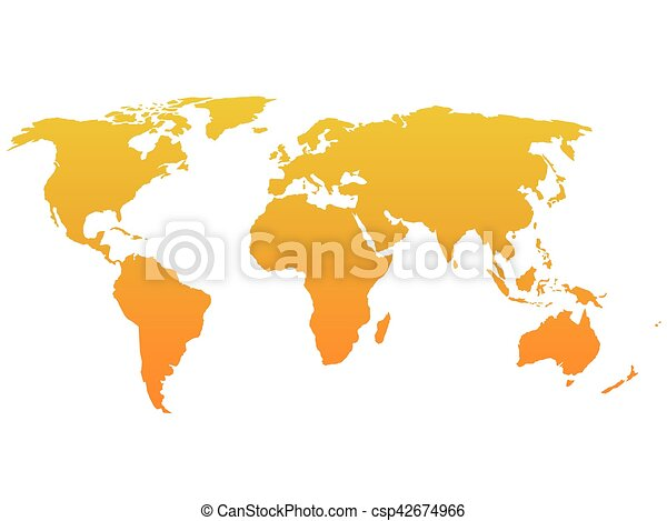 Orange silhouette of world map simple flat vector clip art orange silhouette of world map simple flat vector illustration gumiabroncs Image collections