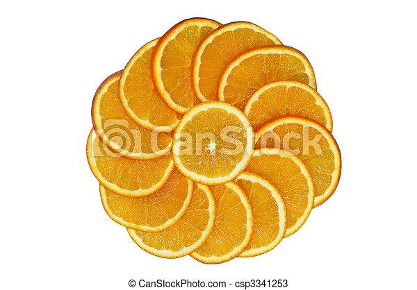 orange slice circle - csp3341253