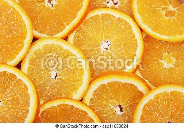 Orange slice on white background - csp11630824