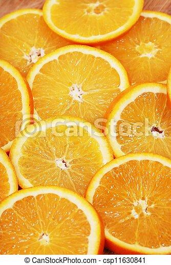 Orange slice on white background - csp11630841