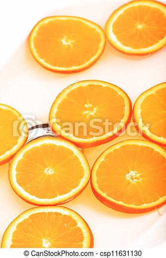 Orange slice on white background - csp11631130