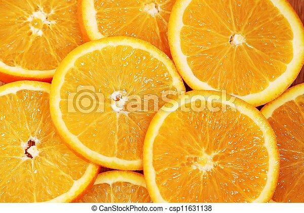 Orange slice on white background - csp11631138