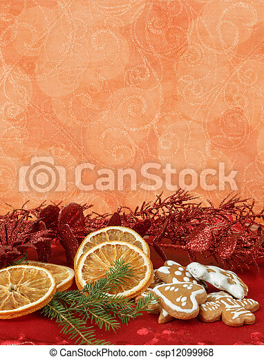 orange slices and gingerbreads - csp12099968