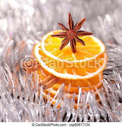 orange slices decoration for christmas - csp60817134