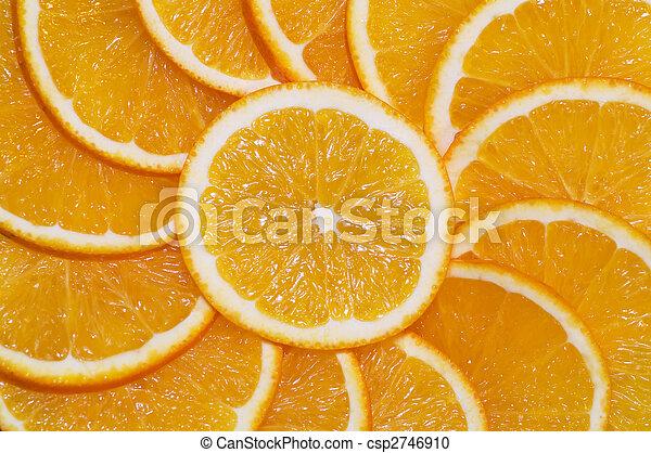 orange slices ornament - csp2746910