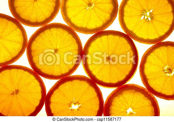 Orange slices - csp11587177