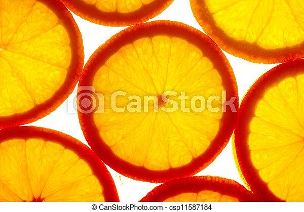 Orange slices - csp11587184
