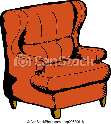 Orange Sofa Chair