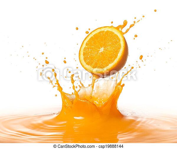 orange splash - csp19888144
