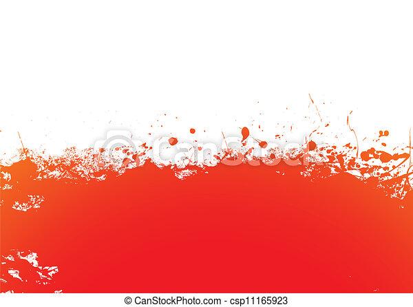Orange splat band - csp11165923