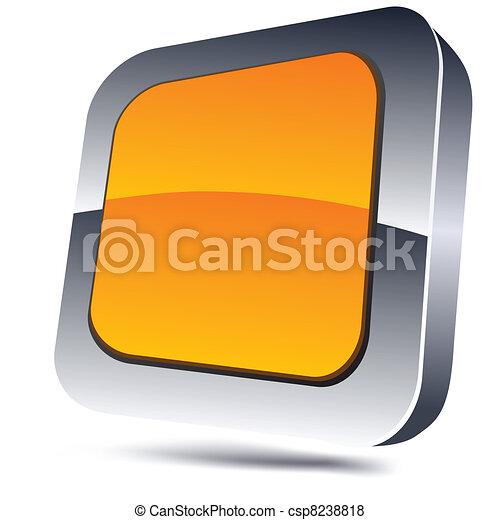 Orange square icon. - csp8238818