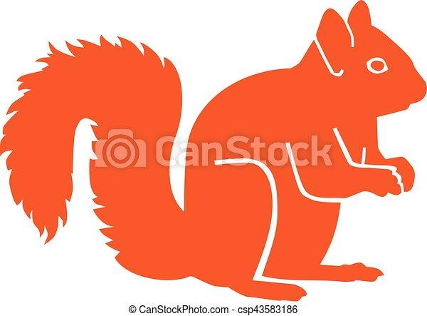 Orange squirrel silhouette - csp43583186