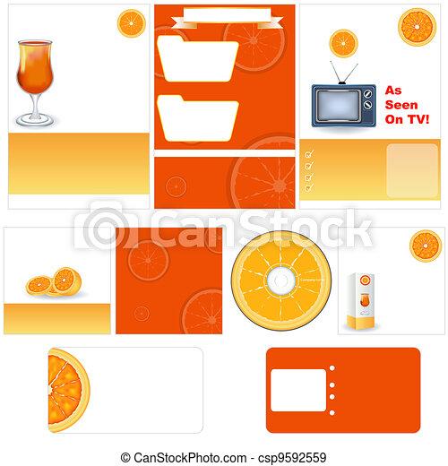 Orange stationary template - csp9592559