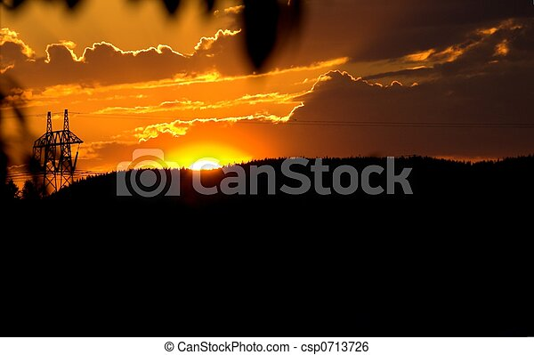 Orange Sunset - csp0713726