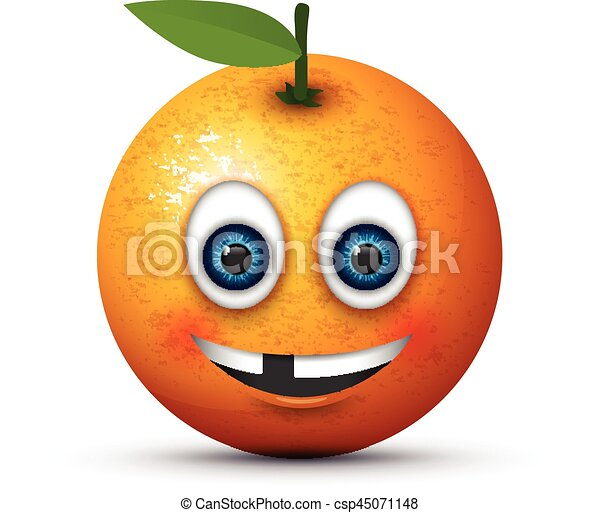 orange toothless emoji - csp45071148