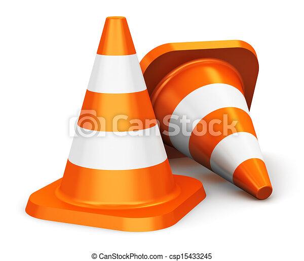 Orange traffic cones - csp15433245