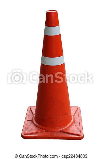 Orange Traffic cones isolated - csp22484803