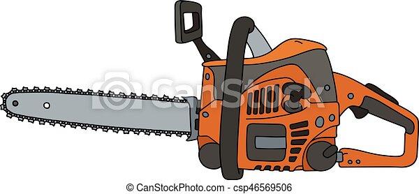 Orange tron onneuse classique orange tron onneuse dessin main - Coloriage tronconneuse ...