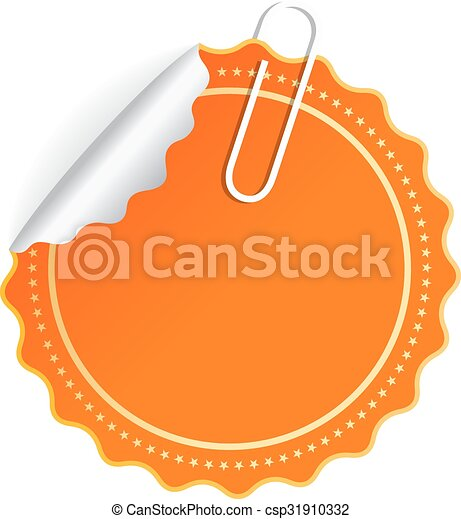 Orange vector sticker - csp31910332