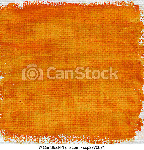 orange watercolor abstract with canvas texture - csp2770871