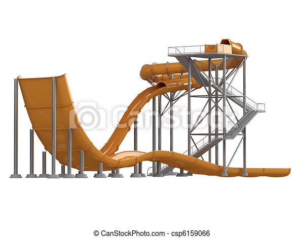 Orange waterslide - csp6159066