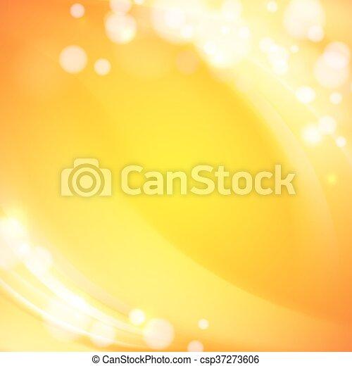 Orange waves background. - csp37273606
