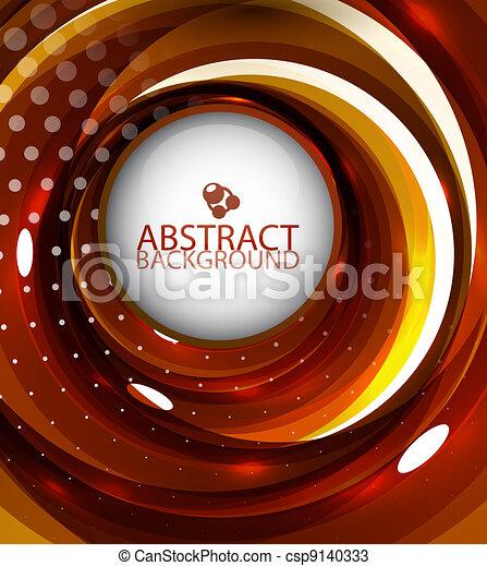 orange, wirbel, abstrakt, hintergrund - csp9140333