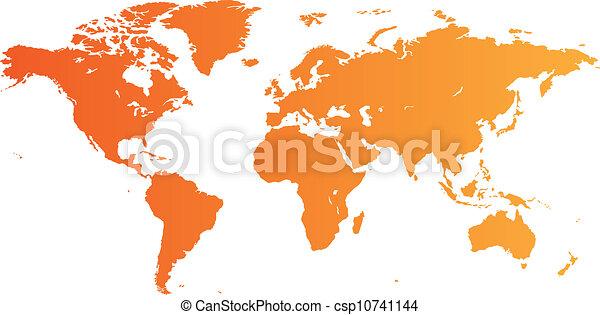 Orange world map high quality orange vector map of the world orange world map csp10741144 gumiabroncs Images
