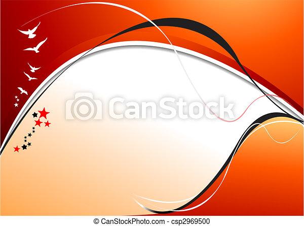 Orange yellow  abstract background. Vector illustration - csp2969500