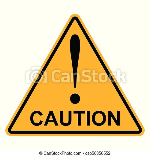 Orange Yellow Triangle With Exclamation Mark Word Caution Vector