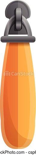 Orange zipper icon, cartoon style - csp67260449