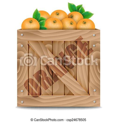 Oranges crate - csp24678505