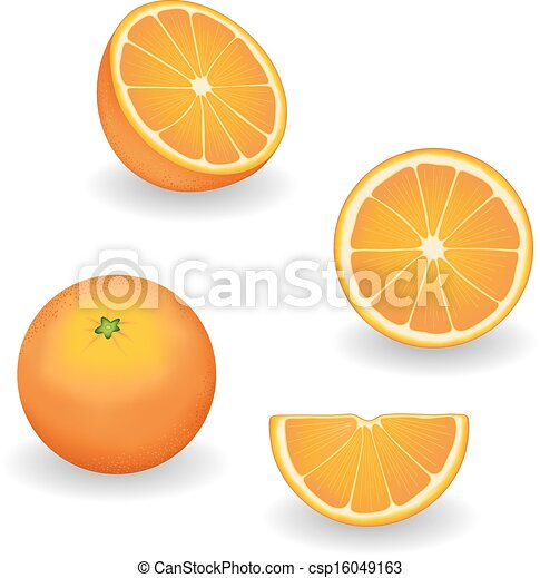 Oranges, Fresh and Natural - csp16049163