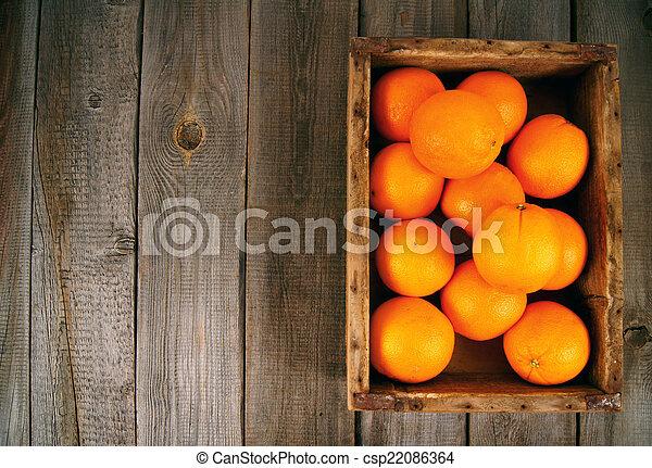 Oranges in a box - csp22086364