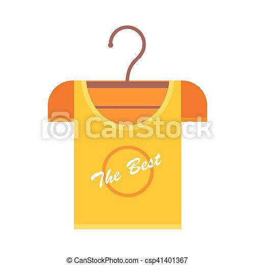 Kleiderbügel clipart  Clipart Vektorbild von oranges t-shirt, kleiderbügel ...
